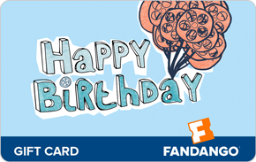$75 Happy Birthday Fandango Gift Card