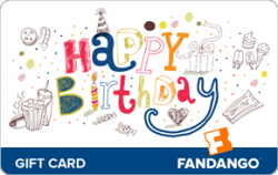 $100 Happy Birthday Fandango Gift Card